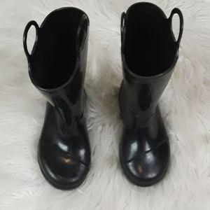 Toms sz 7 kids black rain boots